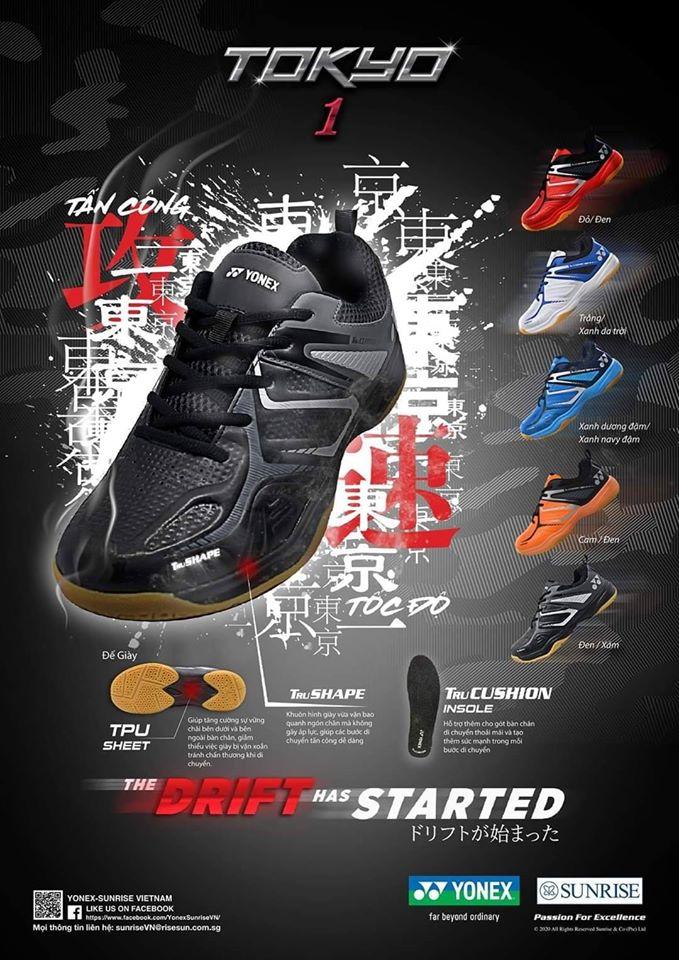 Giày Cầu Lông YONEX TOKYO 1 Đỏ